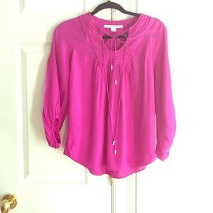 DVF Great Condition Loose Fitting Blouse